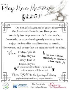 Play Me a Memory @ Yancey County Public Library