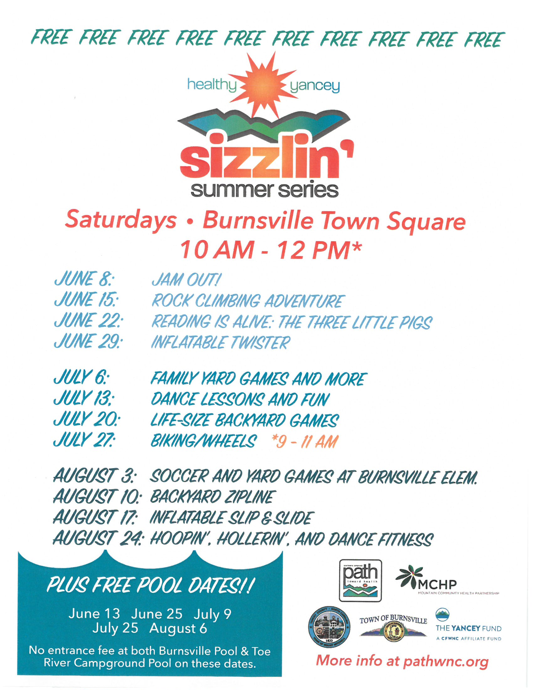 Bookmobile at the Sizzlin' Summer Series @ Burnsville Town Square