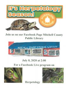 Join Mitchell County Library for an Eco-Explore Event!