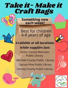 Ms. Karen's Summer Learning Program: Take-it, Make-it bags at your local library