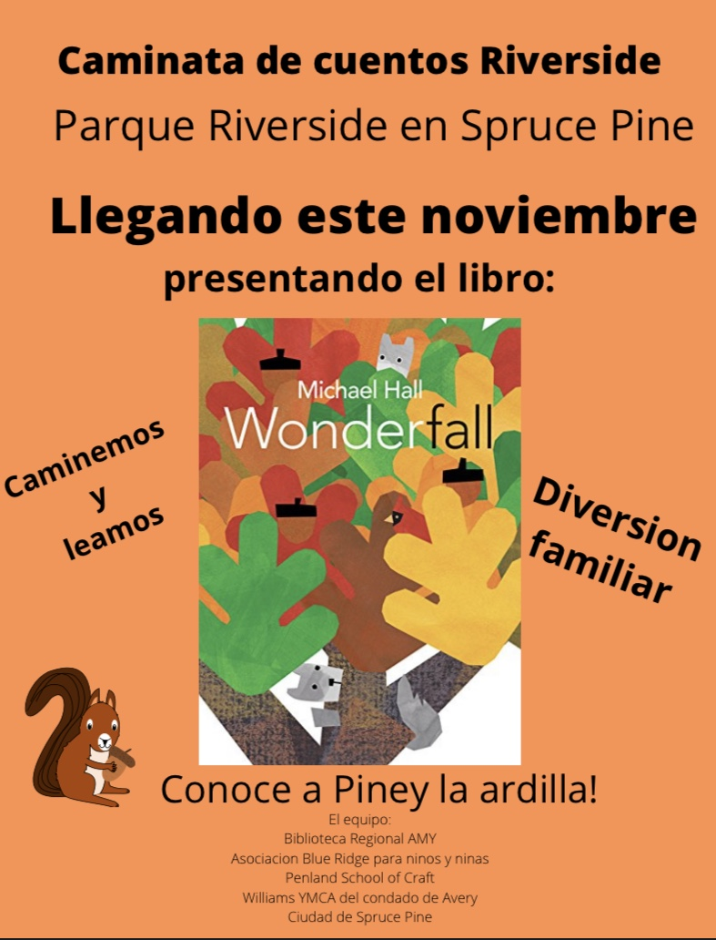 Information about the Story Trail in Spruce Pine in spanish