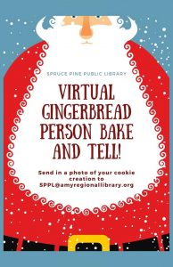 Gingerbread Competition at Spruce Pine Library-- entries due by Dec. 4th!