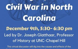 Legacy of the Civil War in North Carolina Virtual Discussion information