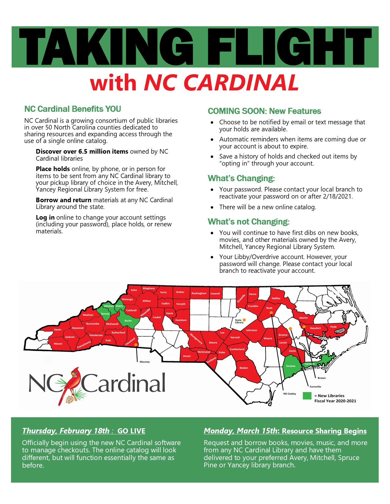 Explains what a patron can or can't do within NC Cardinal