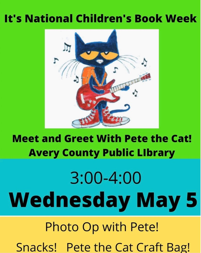 Meet Pete the Cat at Avery Morrison Library! @ Avery Morrison Public Library