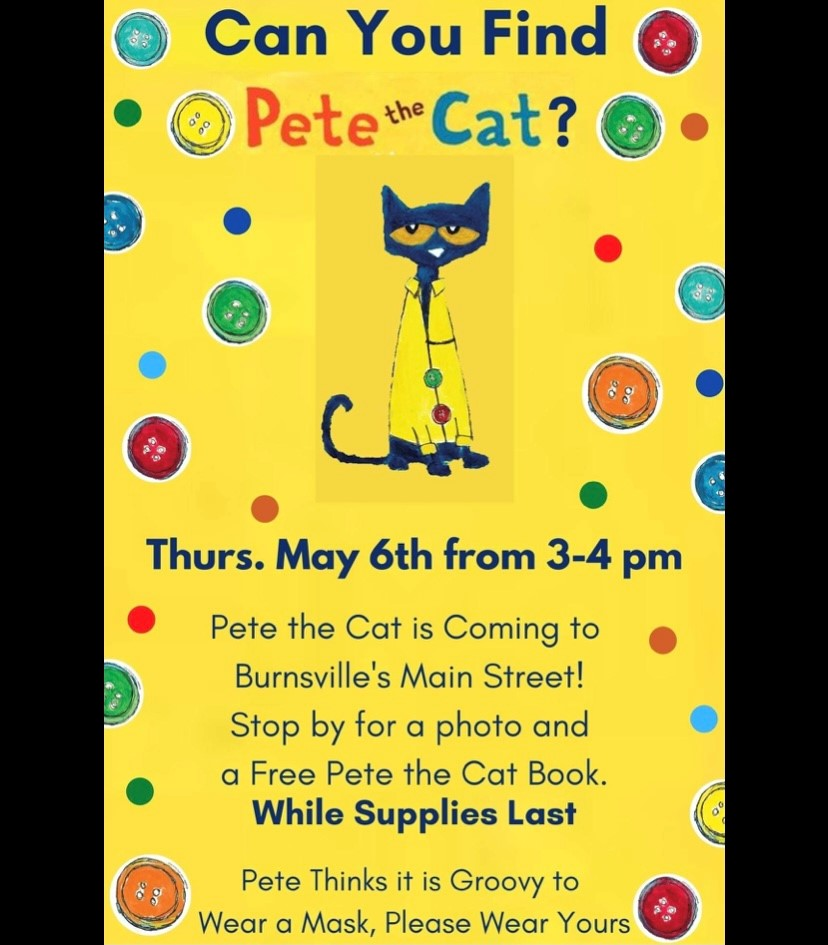 Pete the Cat returns to Burnsville Town Square! @ Burnsville Town Square