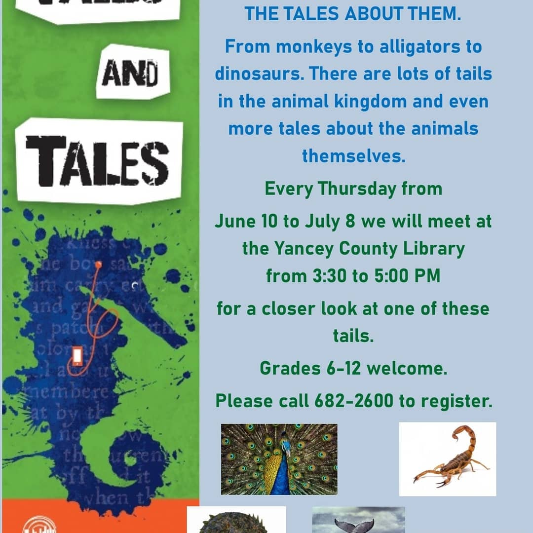 Tween and Teen program description at Yancey County Public Library