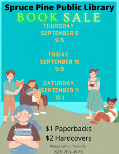 Spruce Pine Public Library Book Sale!!