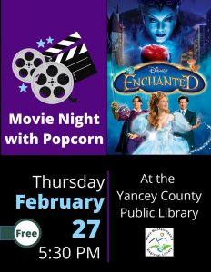 Film Night! @ Yancey Library @ Yancey County Library