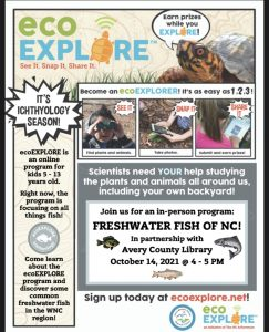 It's Ichthyology Season: Join us for an ecoExplore Program at Avery Morrison Library