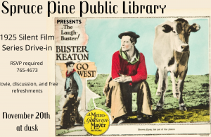 Spruce Pine Public Library presents the Silent Film Series Drive-In